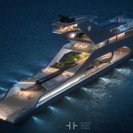 108M Mega Yacht with Multi-Level Platforms to Encourage Passengers to Admire The Beauty of Nature