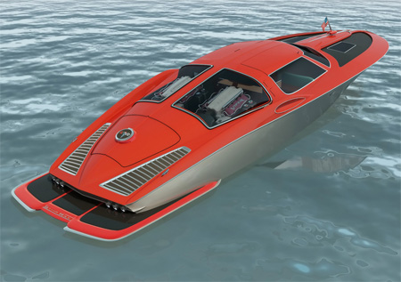 1963 chevrolet corvette boat design by Bo Zolland