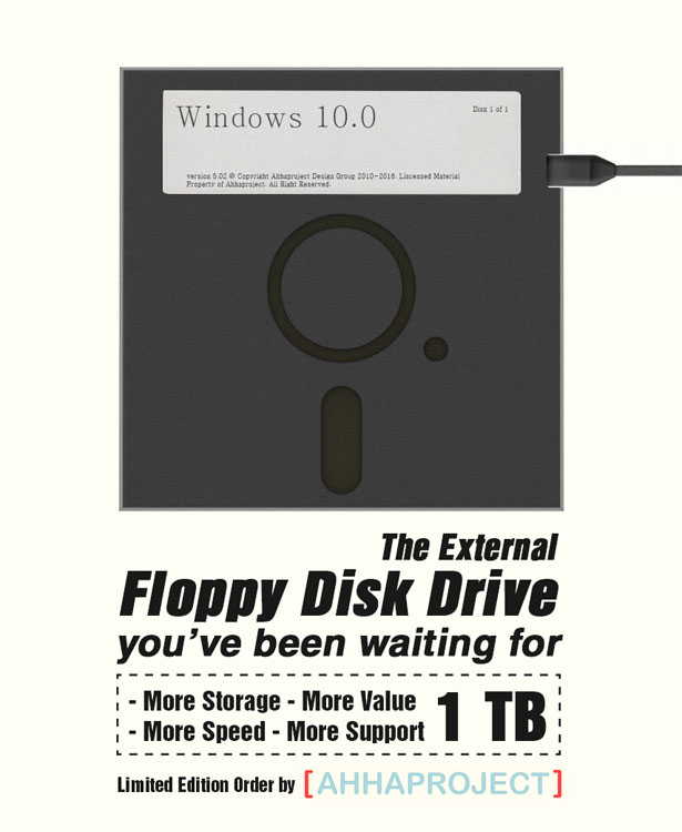 1tb External Diskette 5.25 by ahhaproject