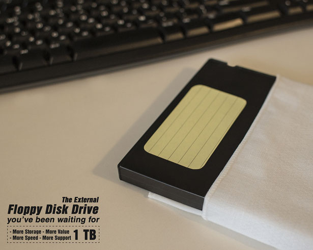 1tb External Diskette 5.25 by AhhaProject Design Firm