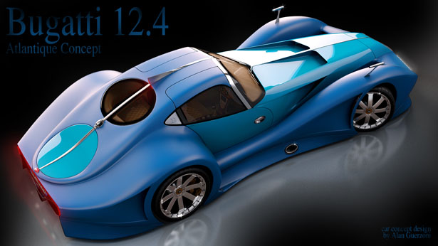 2014 Bugatti 12.4 Atlantique Concept Car by Alan Guerzoni