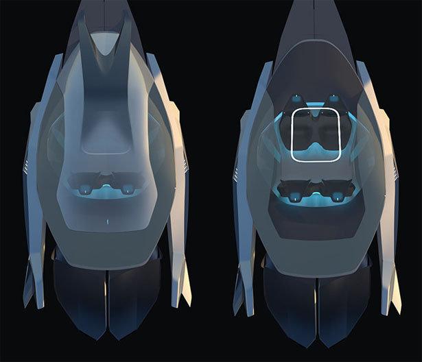 2037 Viewion Airtravel Concept by Ganin Li