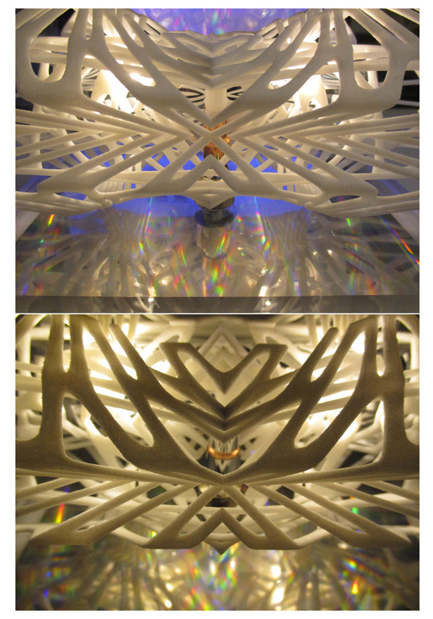 3D Printed Dichroic Light Diffuser by Margot Krasojevic