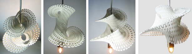 3D Printed Fractal LED Generator by Margot Krasojević