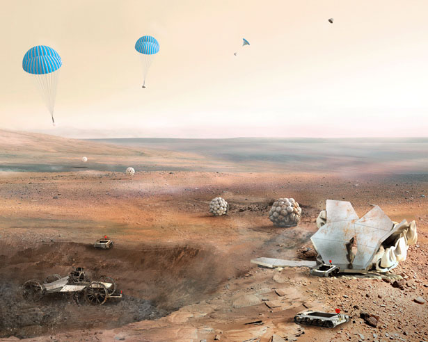 3D Printed Modular Habitat on Mars by Foster and Partners