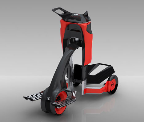 3Roll Human Drived Trolley With GPS System