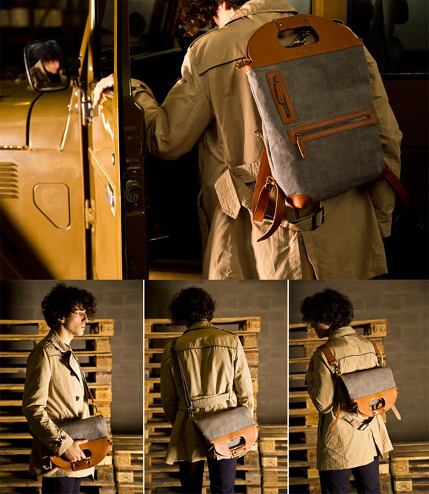 Modern 4-in-1 Leather Backpack by Wolecraft Goods