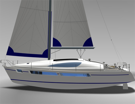 40 Foot Sailing Yacht Features Appealing Design With Great Performance