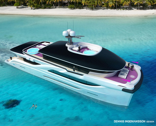 42m Solar Dream Catamaran by Dennis Ingemansson Design