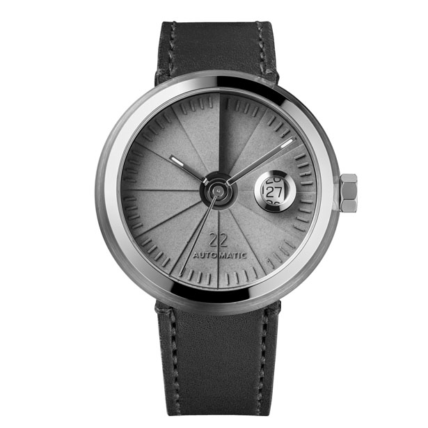 4D Concrete Automatic Watch – Signature Steel