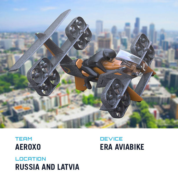 Top Five Winners of GoFly Phase II - Futuristic Era Aviabike by Aeroxo Team