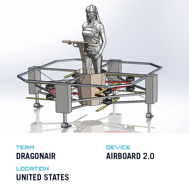 Top Five Winners of GoFly Phase II - Futuristic Airboard 2.0 by Dragonair Aviation Team