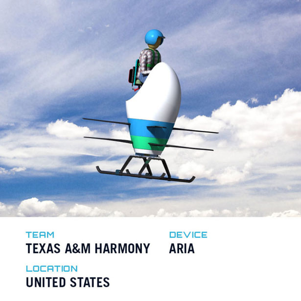Top Five Winners of GoFly Phase II - Futuristic Aria by Texas A&M Harmony Team