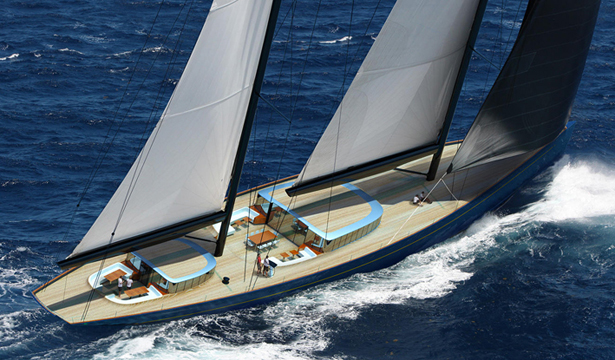 Adam Voorhees Designed 70m Sailing Superyacht In Collaboration with Dykstra Naval Architects