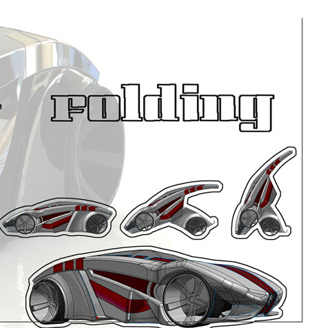 BRB evolution folding car concept