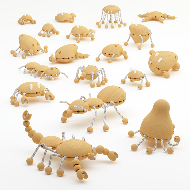 A' Design Award and Competition - Creative Wooden Creatures by Hakan Gürsu