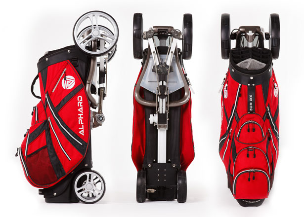 A Design Award 2012-2013 winners - Alphard Duo Golf Cart Golf Bag & Push Cart Combination by Alex Tse