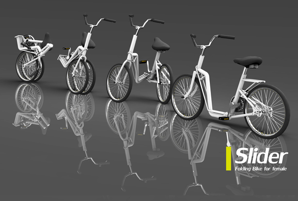 A' Design Award and Competition - Slider Folding Bike Bicycle by Paul Hao Ting Hsu