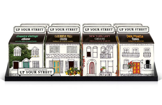 A Design Award 2012-2013 winners - Up Your Street Cottage Cheese by Springetts Brand Design Consultants
