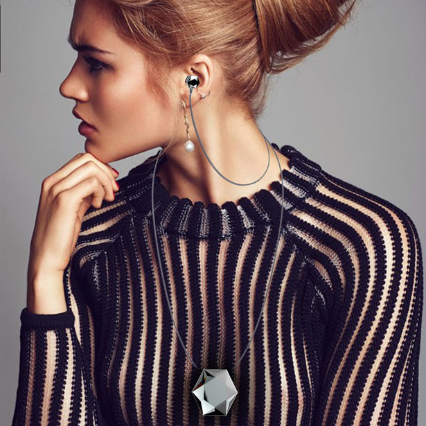 A' Design Awards & Competition – Winners 2015 -  Stellé Audio Wireless Earbud Locket Wireless Earbuds by Anna Perelman and Wayne Ludlum