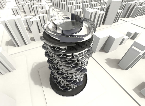 Turn to the Future Spiral Rotating Building by Shin Kuo