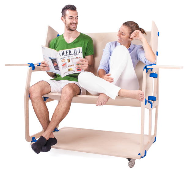 A'Design Award and Competition 2015-2016 Winner - PlayWood Connector Modular Furniture System by Stefano Guerrieri