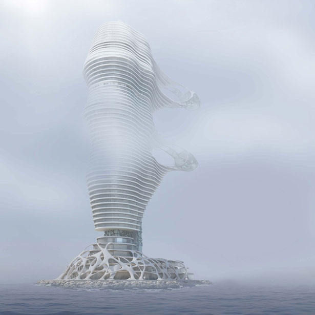 A'Design Award and Competition 2015-2016 Winner - Wind Tower Skyscraper by Peter Stasek
