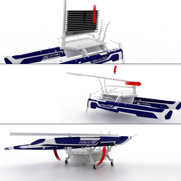 Foscat-32 Folding Solar Catamaran by Hakan Gursu of DesignNobis