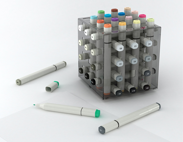 Fume Marker Pen Stand and Package by Hakan Gursu of DesignNobis