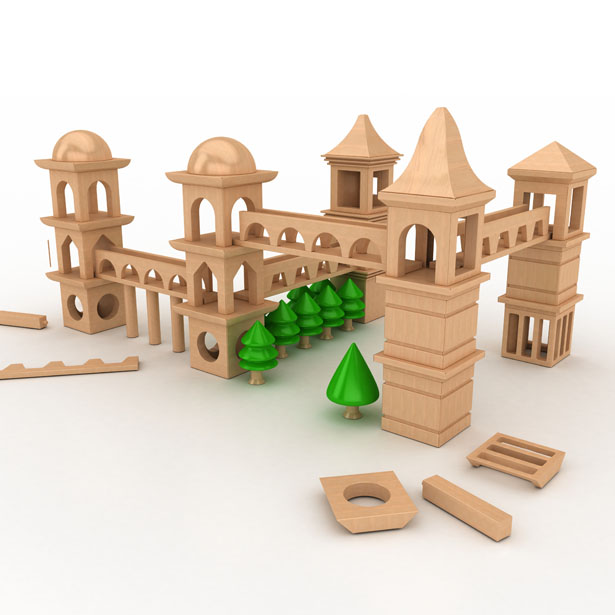 Powertower Wooden Toy Set by Hakan Gursu of DesignNobis