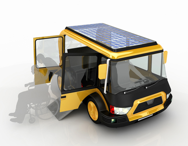 Solar Taxi Vehicle by Hakan Gursu of DesignNobis