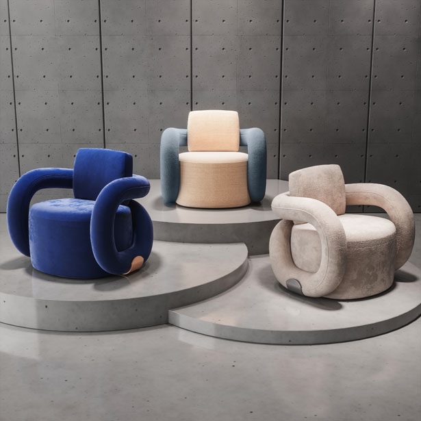 Infinity Armchair by Natalia Komarova - A' Design Award Design and Competition 2020 Winner