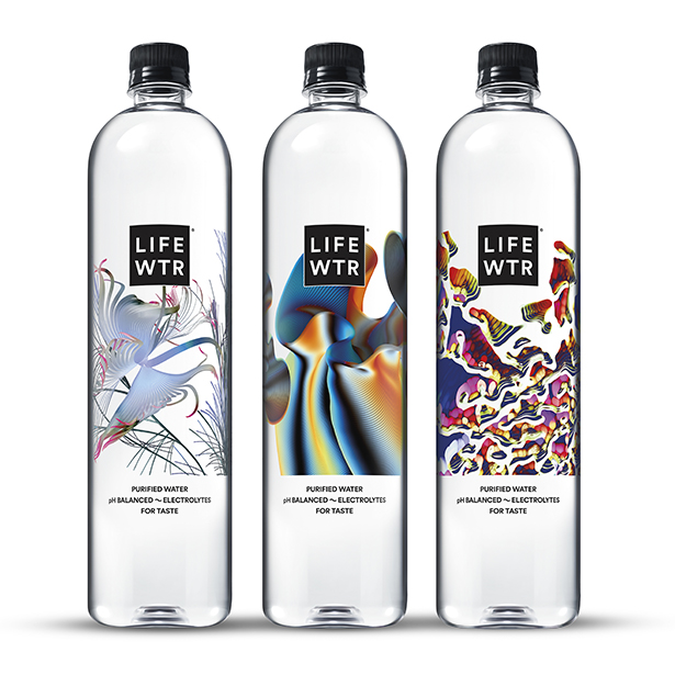 Lifewtr Series 7 Art Through Technology Packaging by PepsiCo Design and Innovation
