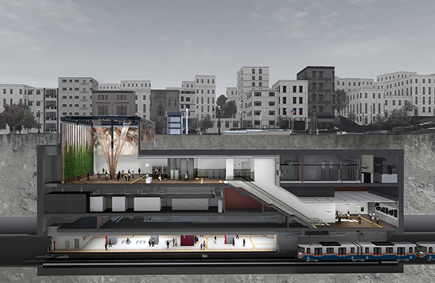 Istanbul Rail System Station Metro Station by Yuksel Proje R&D and Design Center