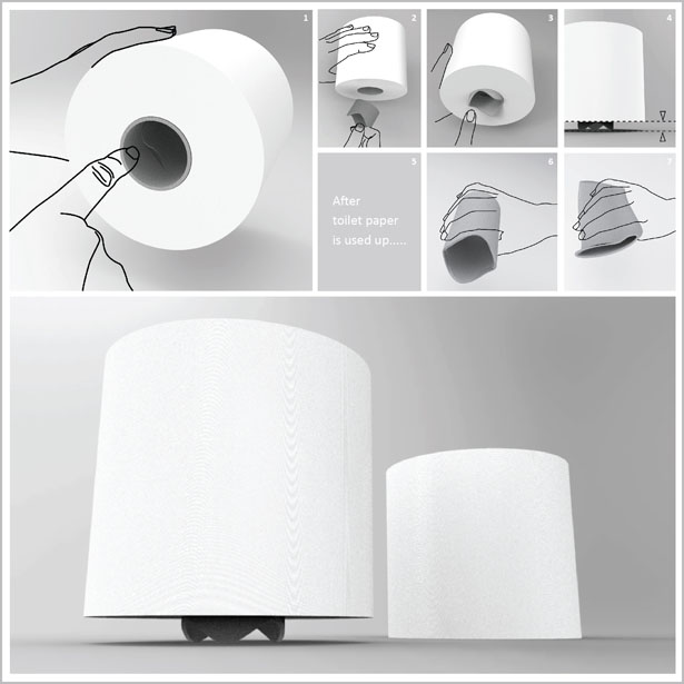 Toilet Paper Roll Redesign Toilet Paper Roll by Sheng-Hung Lee & Josipa Dodig