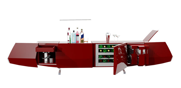 A' Design Award and Competition 2014 Winners - Ciel Home Bar by Bahram Salour