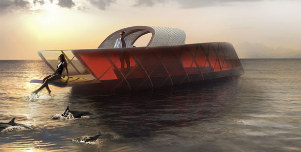 A' Design Award and Competition 2014 Winners - Leaf Pleasure Boat (yacht) by Emmanuel Sitbon