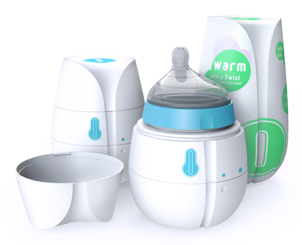 A' Design Award and Competition 2014 Winners - Qi Disposable Self-heating Baby Bottle by Caitlin Boyland