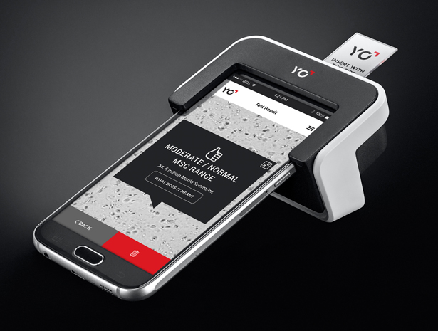 YO Sperm Test multi-functional Smartphone Microscope by Bee Creations - A' Design Award and Competition 2017-2018