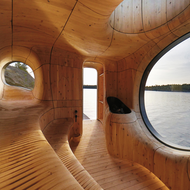 A' Design Award Architecture Category - Grotto Sauna Freestanding Residential Sauna by PARTISANS
