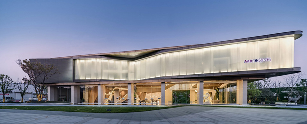A' Design Award Architecture Category - Waving Ribbon Sales Center by Kris Lin and Jiayu Yang
