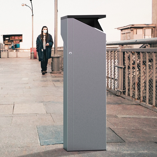 Smart Cleaner Outdoor Disinfectant Dispenser by Jaroslaw Markowicz