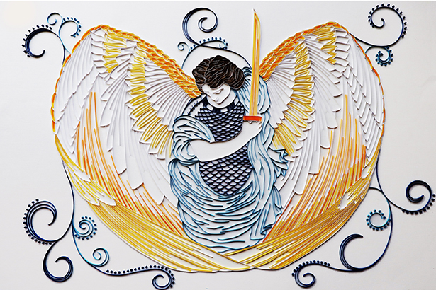 Archangel Michael Quilling by Niamh Faherty