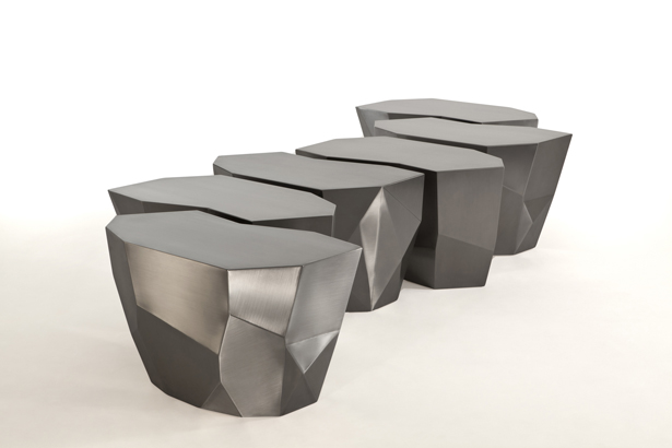Infinite Steel Stool by Fernanda Marques