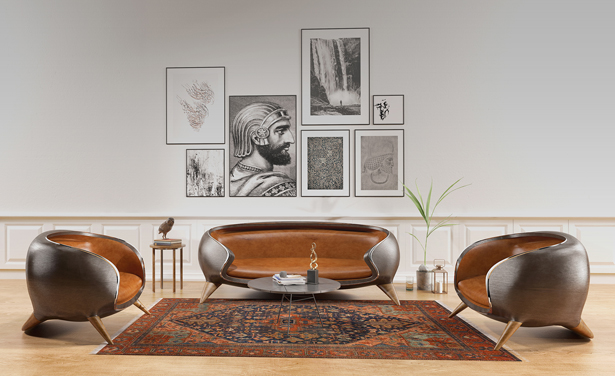 Koron Sofa by Reza Salianeh and Hamid Packseresht
