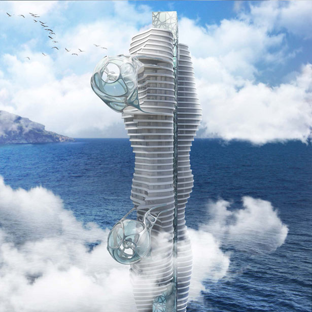A' Futuristic Design Award Winners - Wind Tower by Peter Stasek Architect