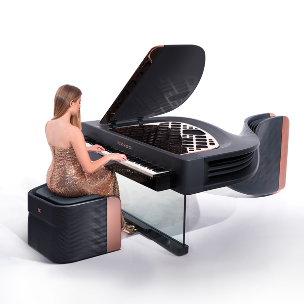 Exxeo Luxury Hybrid Piano by Iman Maghsoudi - A'Design Award and Competition Winners 2018-2019