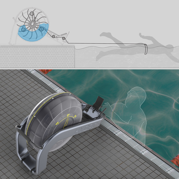 Hydra Swimming Resistance Trainer by Pratik S Bendale - A'Design Award and Competition Winners 2018-2019