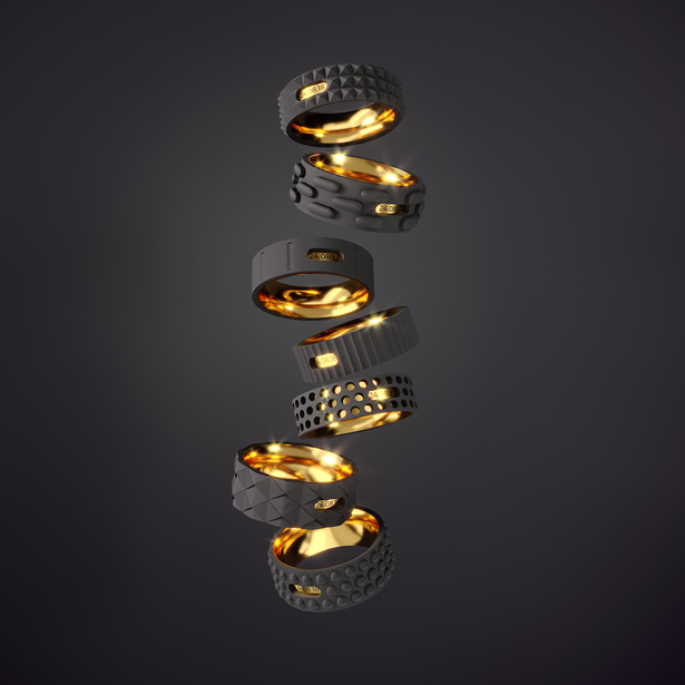 Industrial Style Wedding Rings by Igor Komov - A'Design Award and Competition Winners 2018-2019