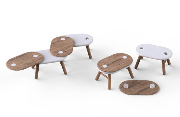 Linking Stool Kindergarten Stool by Bruce Tao - A'Design Award and Competition Winners 2018-2019